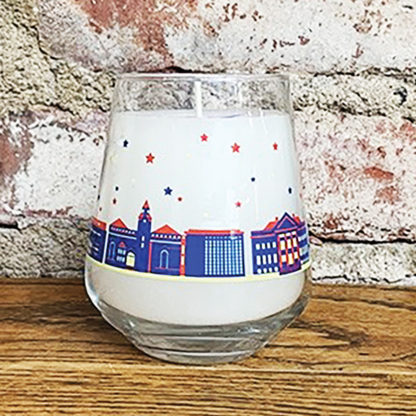 University of Kansas skyline candle from Waxman Candles